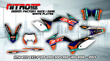 KTM Graphics Kit Decal Design Stickers  EXC EXC-F 125 250 300 350 450 2012 2013
