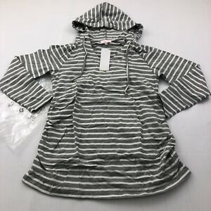 Bhome Maternity Hoodies Long Sleeve Stripe Gray Pregnancy Maternity Top