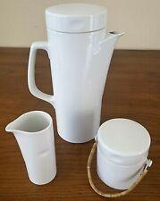 6pc Vintage Schmid LaGardo Tackett Forma White Tea Pot Sugar Bowl Creamer