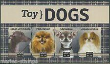Nevis 2014 Toy Dogs Sheet Greyhound Pomeranian Chihuahua Japanese Chin Mint Nh