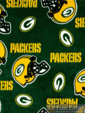 NFL Green Bay Packers All Over Licensed Fleece Fabric NL-NFL-41-OT