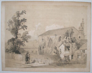 STAND CHAPEL & SCHOOL WHITEFIELD MANCHESTER LITHOGRAPH FROM A PRE 1861 SKETCH