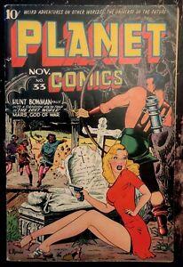 PLANET COMICS #33 Classic cover!