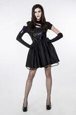 Ladies Womens Rock Lady Punk Look Halloween Costume Fancy Party Dress ladcos12