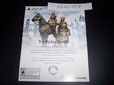 The Elder Scrolls Online DLC Download Code PS4 Playstation 4