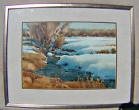 "Orig. W/C ""Spring Runoff""  BY SPIKE RESS; Listed Artist, Utah Artist Western Art"