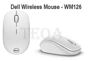 Dell Wireless Mouse-WM126 - White - Brand New Sealed