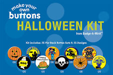 Badge-A-Minit - Halloween Themed Make-Your-Own Button Kit New! #TBK3