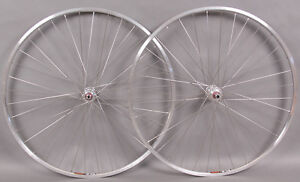 Sun M13 27 inch silver rims 5,6,7 speed freewheel hubs wheelset