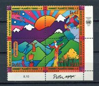 19654) UNITED NATIONS (Geneve) 1997 MNH** Nuovi** Earth summit 4v + tab