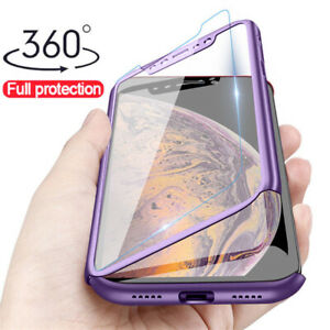 For Samsung Galaxy S20 FE S20 A71 A51 A21S A42 Full Cover Case + Tempered Glass