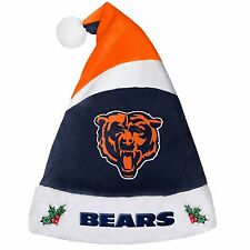 Chicago Bears Team Logo Holiday Plush Santa Hat NEW! Christmas 2016