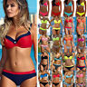 Women's Push Up Bikini Set Bra Padded Swimwear Bandage Bathing Summer Swimsuits