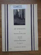 Orgel ? At Evening, Tonbild op. 76 (1927) ? Frederick A. Williams, *Sehr Rar!*