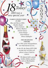 Simon Elvin 2019 año de tarjeta de cumpleaños 18 21 30 40 50 60 65 70 75 80 85 90 95 (A8)