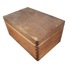Wooden Serving Box/Trunk Without Handles and Lid 30cmx20cmx13.5cm Brown Color