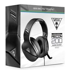 Turtle Beach Recon 200 Gaming Headset Headphones Black Playstation 4 / Pro / PC