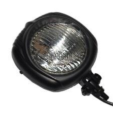 Motorcycle Vintage Sealed Beam Headlight For Cooper Bobber Chopper Black / Clear