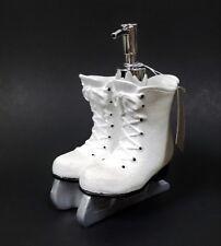 WHITE GLITTERY RESIN ICE SKATE,BOOT+SILVER PUMP KITCHEN,BATHROOM SOAP DISPENSER