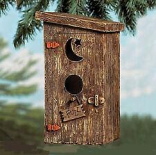 Rustic Outhouse Birdhouse Bird House Yard Outdoor Garden Decor Decorative Accent