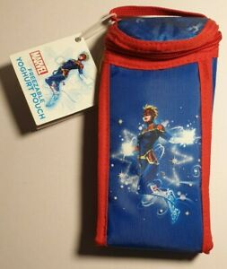 Captain Marvel Freezable Yoghurt Pouch New With Tags. Keeps Food Cools Up To 8 H