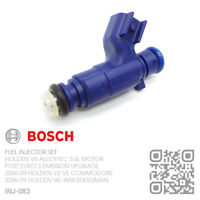 BOSCH FUEL INJECTOR V6 ALLOYTEC 3.6L [2006-07 HOLDEN VZ COMMODORE/UTE/CALAIS]