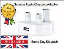 Genuine Official Apple iPhone 5, 5c, 5s & 5se UK Adapter Plug USB Fast Charging