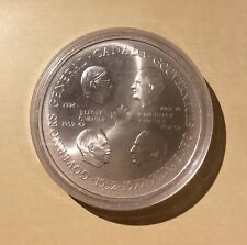 Canada Four Governor Generals 25 Years God Save the Queen Medal in Capsule
