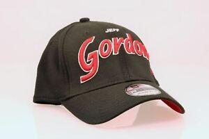 NEW Jeff Gordon New Era Script Sign 39THIRTY Flex Hat - Black, Size Med / Lg