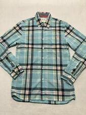 Johnnie B Mini Boden Boys M 16 18 Blue Plaid Button Front Shirt