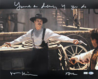 "Val Kilmer Tombstone ""Your A Daisy If You Do"" Signed 16x20 Photo BAS Witnessed"
