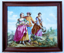 A Large Antique Porcelain Plaque Painting