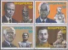 Albania 2954-2957 bloque de cuatro (completa.edición.) nuevo con goma original 2
