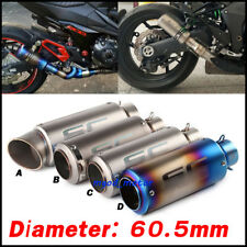 51mm 60.5mm Universal Exhaust Muffler Pipe No DB killer For Moto exhaust system