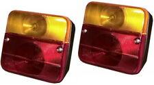 2 Stück Rücklicht Rückleuchte 4 Funktionen Anhänger Traktor E24 + Glühbirnen