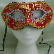 Red/Gold Venetian Masquerade Fancy Dress Ball Costume Party Eye Mask (10)