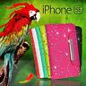 Glitter Wallet ID Card Flip BLING Fancy Case Cover For iPhone SE 6s Plus + ScG
