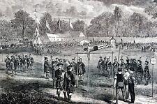 Jones Wood East River NY 1867 POLE VAULTING INTERNATIONAL CALEDONIA GAMES Print