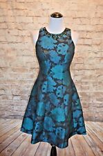Modcloth Dare to Dazzle dress NWT 4 green black jeweled Maggy London $230 floral