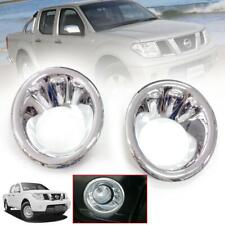 CHROME FOG LAMP LIGHT COVER TRIM FOR NISSAN NAVARA FRONTIER D40 2005-2010 PICKUP