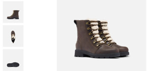 Sorel Lennox Lace Cozy Blackened Brown Boot Women's US sizes 6-11/NEW!!!