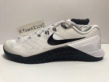 Nike Metcon 3 Crossfit Shoes White Black 849807 100 Women's Size 8