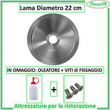 LAMA per AFFETTATRICE mm 220 22 cm in Acciaio + Viti + Olio di Ricambio STANDARD