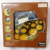 Sakura Oneida PUMPKIN HOLLOW Halloween David Brown Set of 4 Salad Dessert Plates