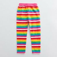 Kids Baby Girls Rainbow Striped Long Pants Trouser Leggings Cotton Soft Cute New