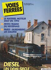 VOIES FERREES N° 70 MAT MOTEUR SNCF 1992 / PETIT TRAIN NIVERNAIS / EVOL DIESEL
