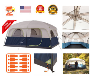 Ozark Trail Instant Pop Up Cabin Outdoor Hiking 10 Persons Camping Tent Family