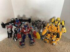 Transformer Lot 5 Talking Light Up Action Figures Hasbro Optimus Prime Megatron
