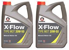 2X COMMA 4.5L X-FLOW TYPE MOT 20W50 MINERAL MOTOR OIL 4.5 LITRE