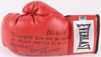 Earnie Shavers Signed Everlast Boxing Left Glove With Ali Africa Kin Folk Quote
